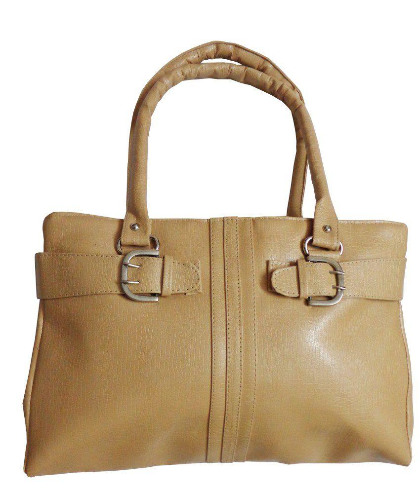 Arc Hnh Biege Women Buckle Hand Bag