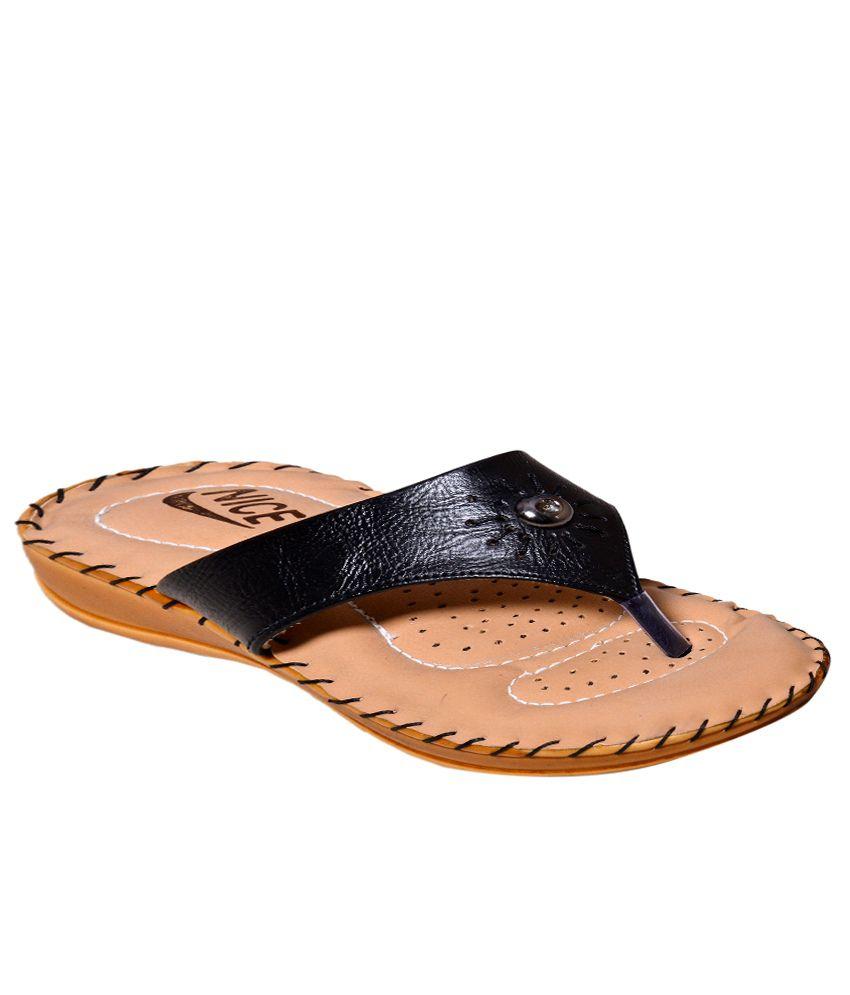 Nice Black Comfortable Flat Slip-on