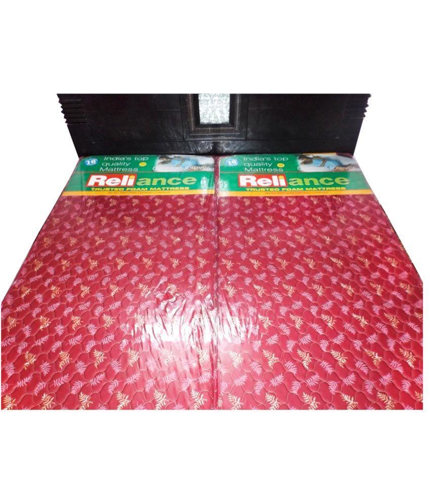 reliance single size flexible foam mattress 72x35x4 inches buy