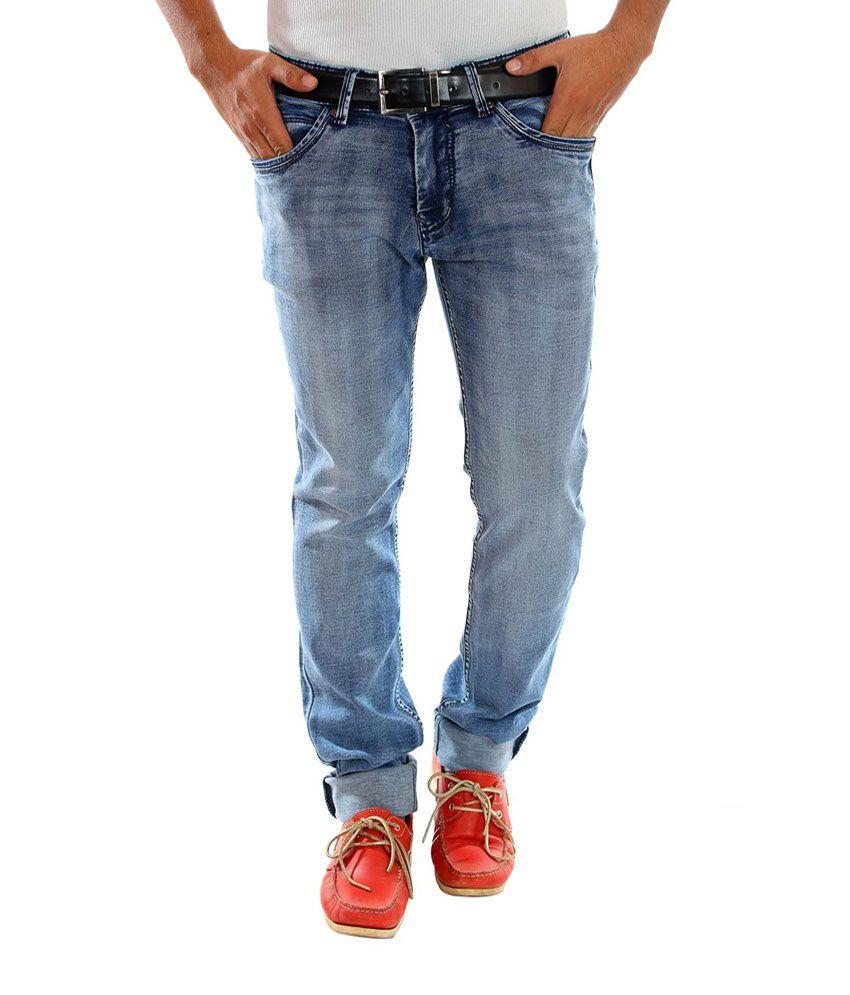 Unison Slim Fit Dark Grey Denim Jeans For Men
