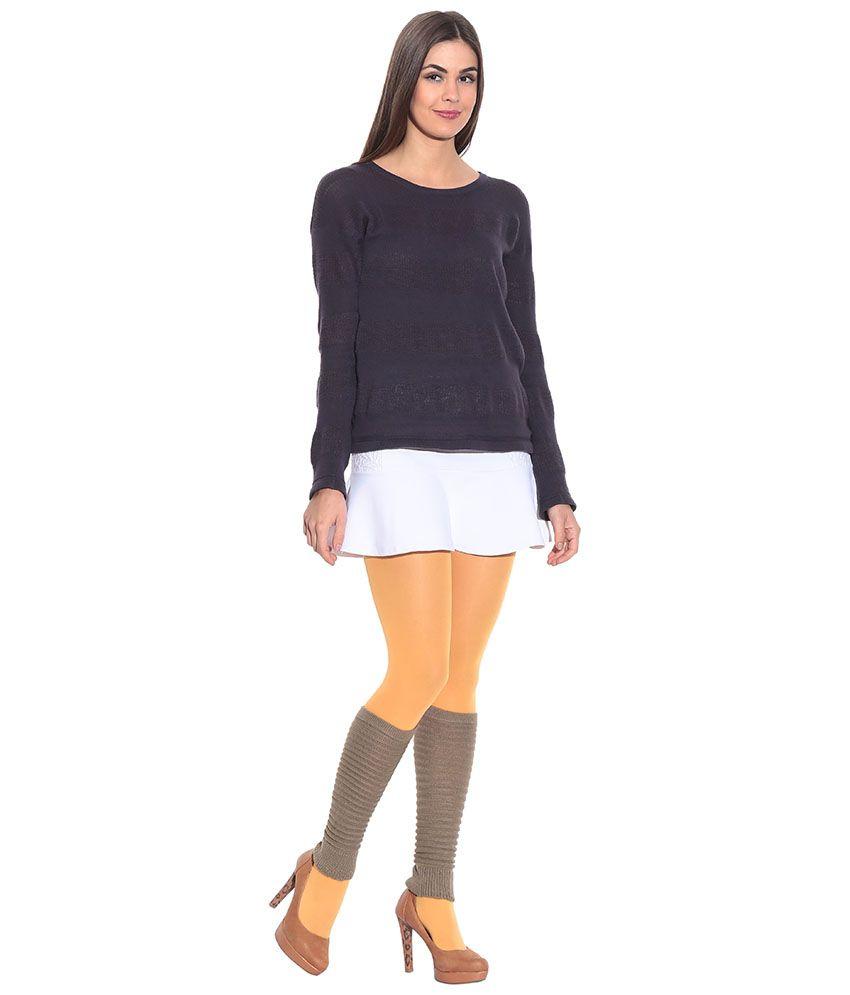 Bizarro.in Attractive Brown Woollen Leg Warmer For Women
