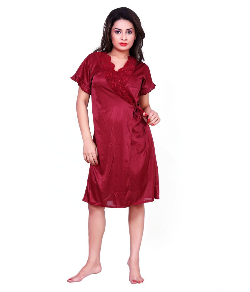 68bfbc1001 Buy Choosy Cheery Red Poly Satin Baby Doll Dresses Online at Best Prices in  India - Snapdeal