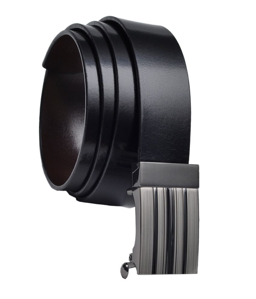 Hawai Black 360 Degree Rotating Buckle Glossy Belt