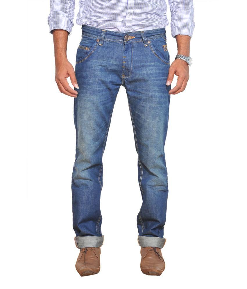 Pepe Jeans Blue Cotton Slim Fit Jeans