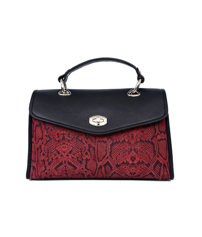 Taws Black Leather Satchel Bag For Women