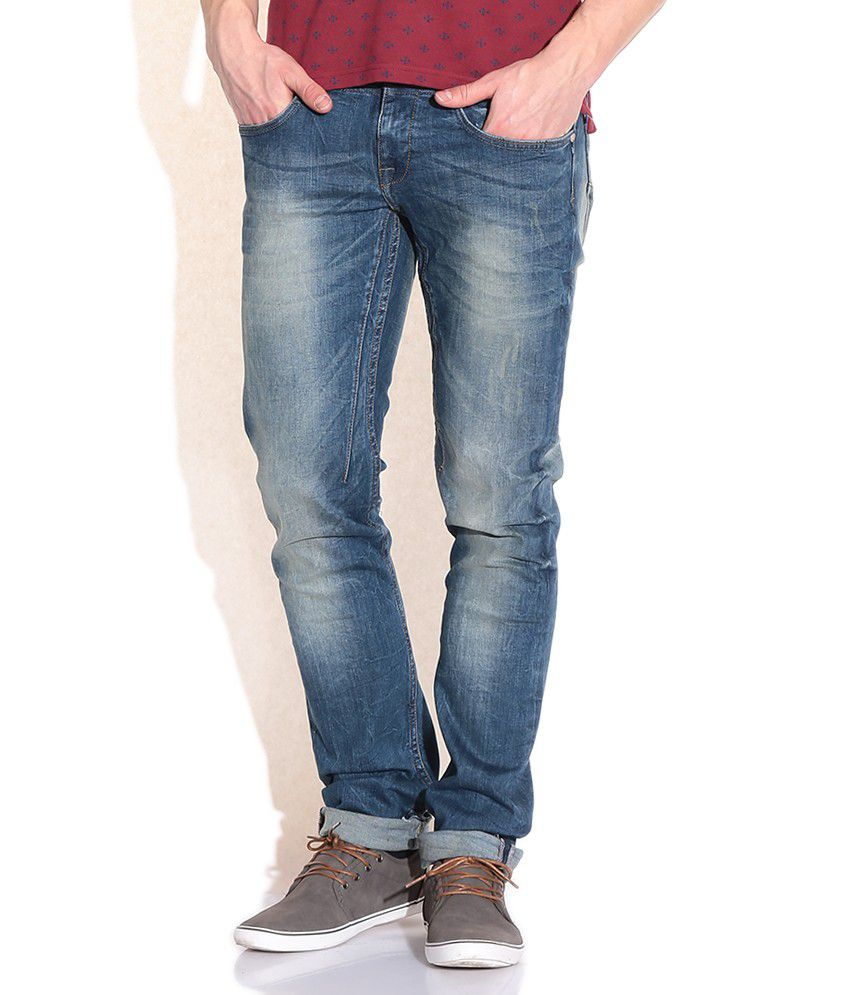 United Colors Of Benetton Blue Skinny Jeans