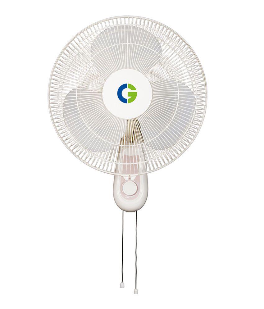 crompton 16 high flo wall fan light grey