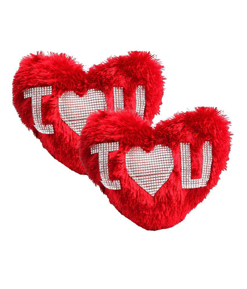 Dekor World I Love U Heart Pillow Set Of 2 - Buy Dekor World I Love U Heart Pillow Set Of 2 Online at Low Price - Snapdeal