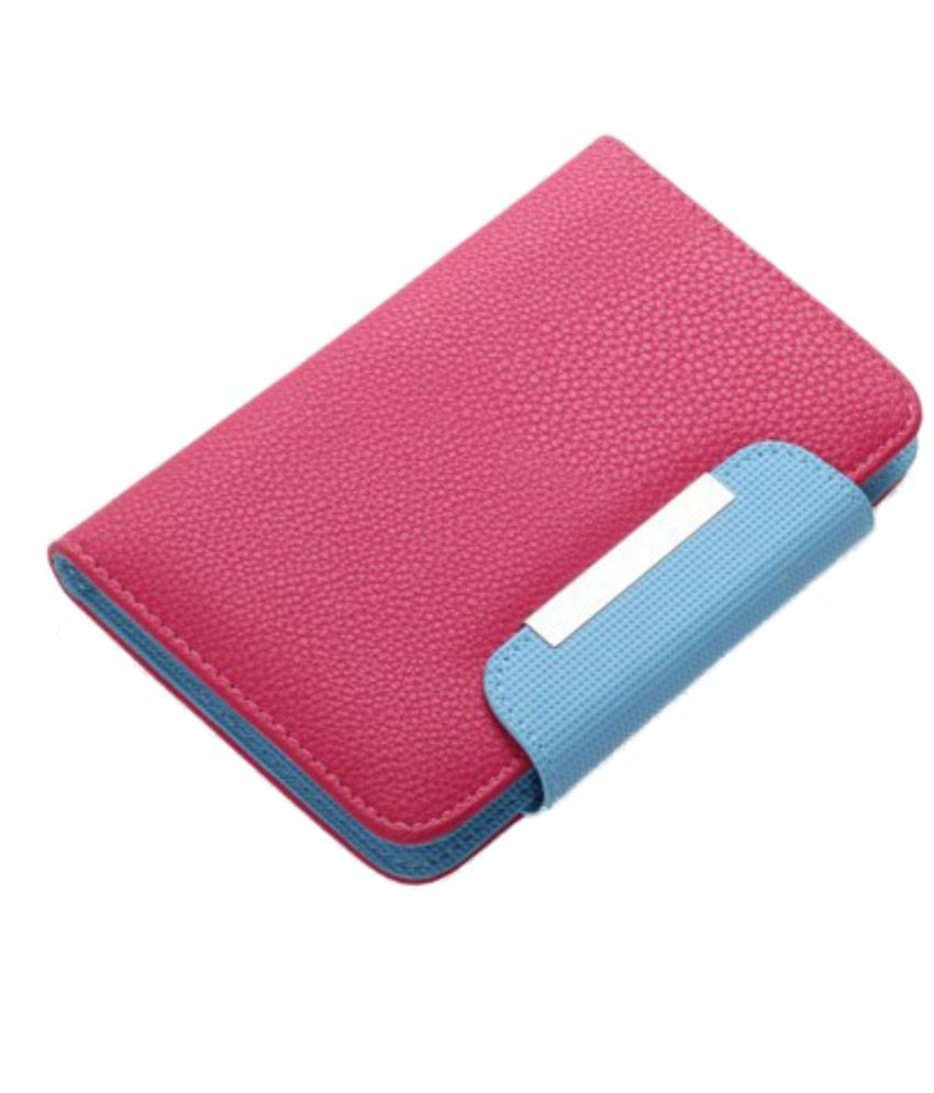 Jo Jo Z Series Magnetic High Quality Universal Phone Flip Cover For Lg Google Nexus 4 (8 Gb) Exotic Pink Blue