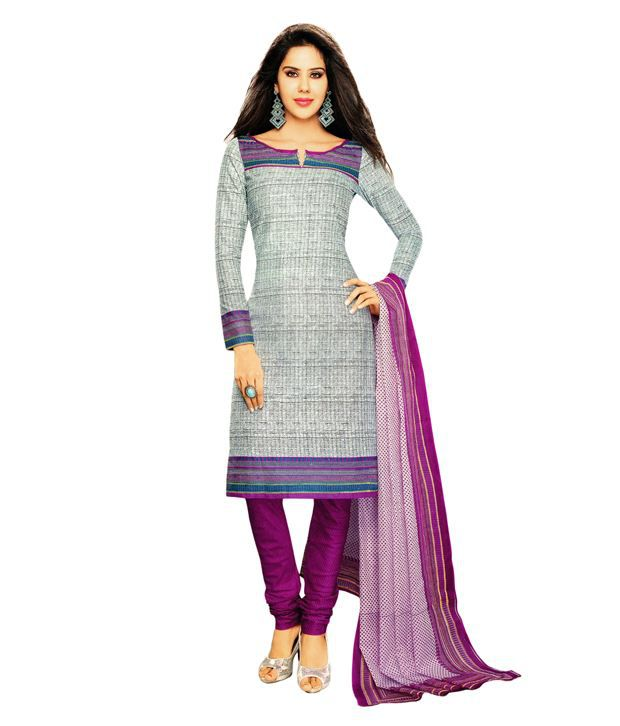4631d684dc Salwar Studio Gray Cotton Unstitched Dress Material - Buy Salwar Studio  Gray Cotton Unstitched Dress Material Online at Best Prices in India on  Snapdeal