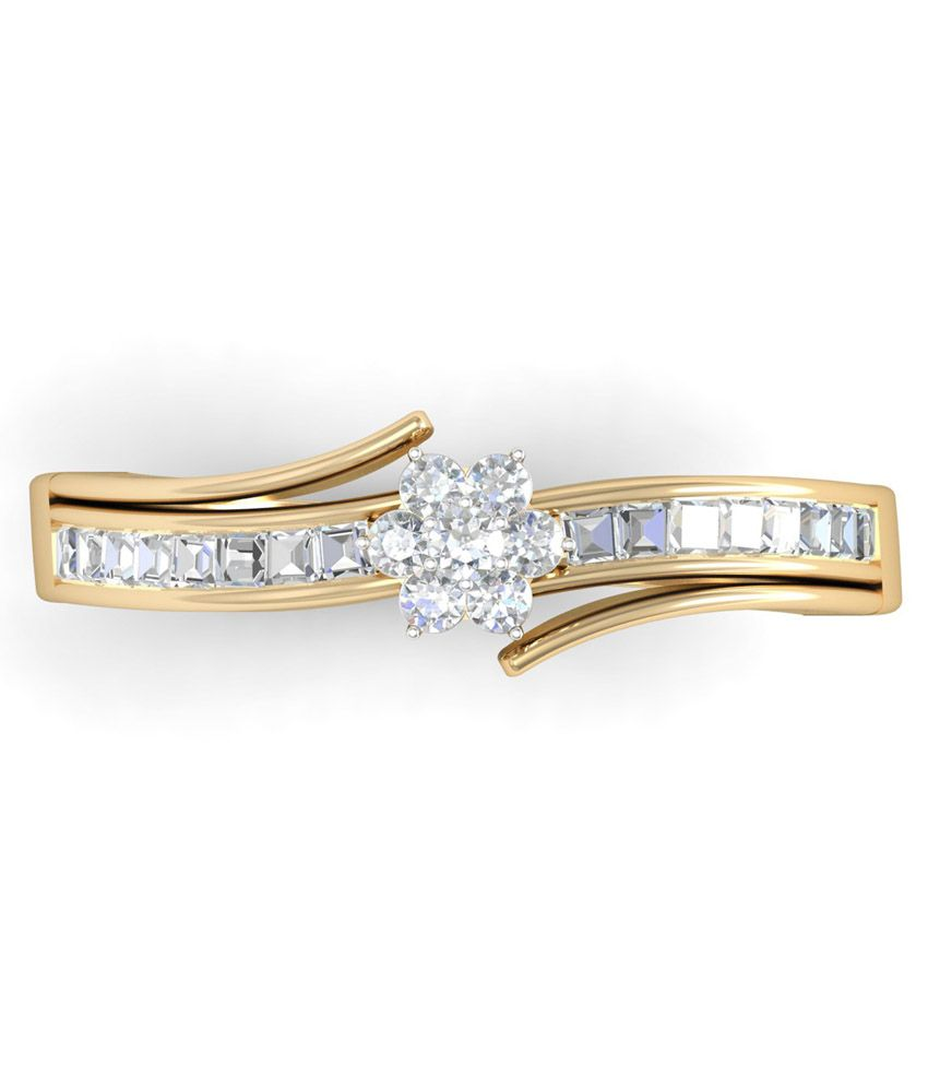 WearYourShine PC Jeweller 18KT Gold The Carah Diamond Ring