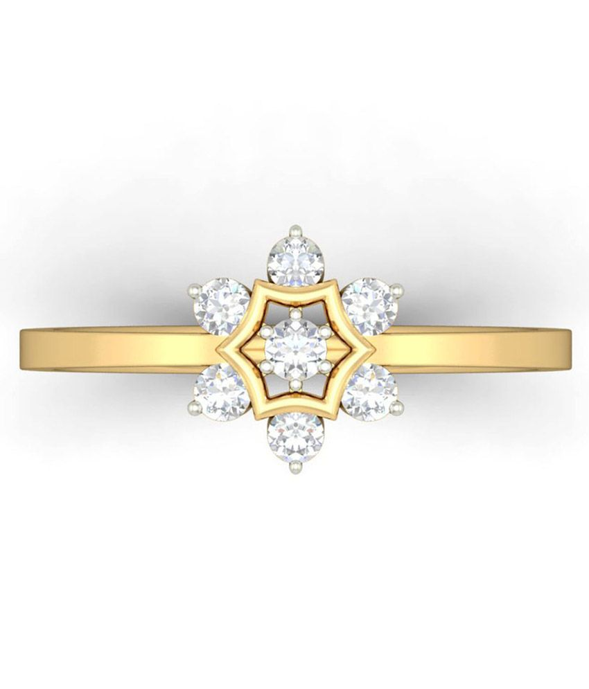 WearYourShine PC Jeweller 18KT Gold The Kalika Diamond Ring
