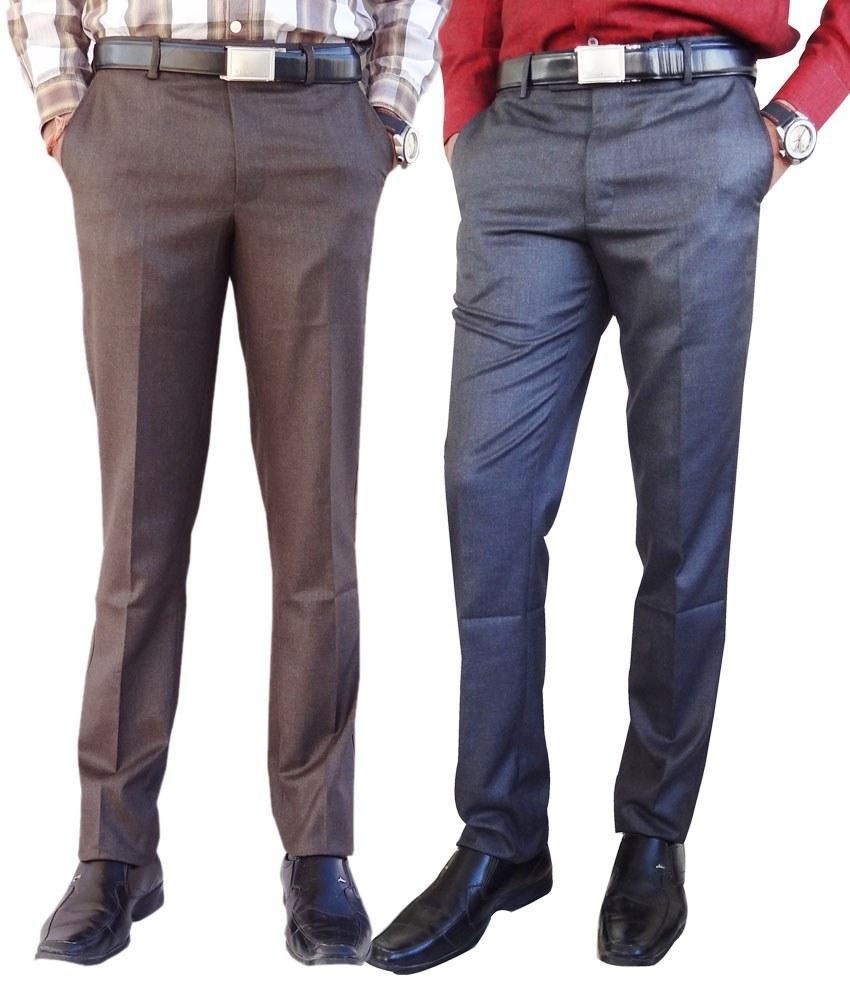 AD & AV  Grey Formal Trouser