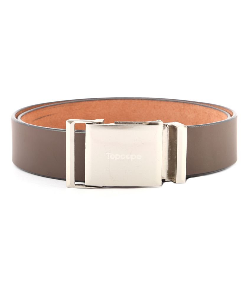 Buckleup Brown Leather Single Pin Buckle Formal Belt For Men