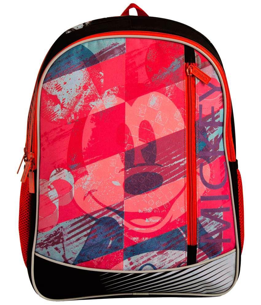 f883a78826b Disney Genius Mickey Red   Black School Bag For Boys