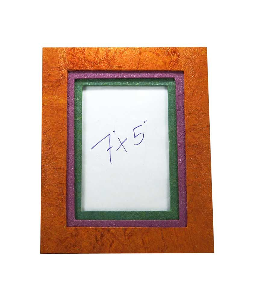R S Jewels Handmade Paper Ethnic Desins Multicolor Photo Frame