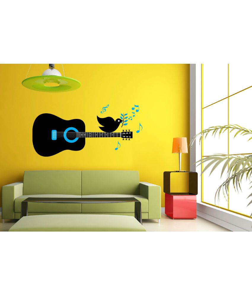 Hoopoe Decor Bird Singing On The Guitar Wall Arts, Wall Stickers and ...