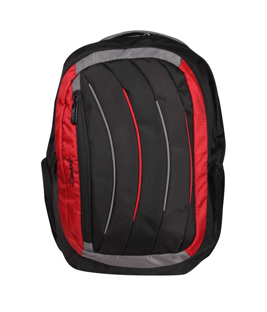 Zwart Black & Red Polyester Dokrey-r Laptop Backpack