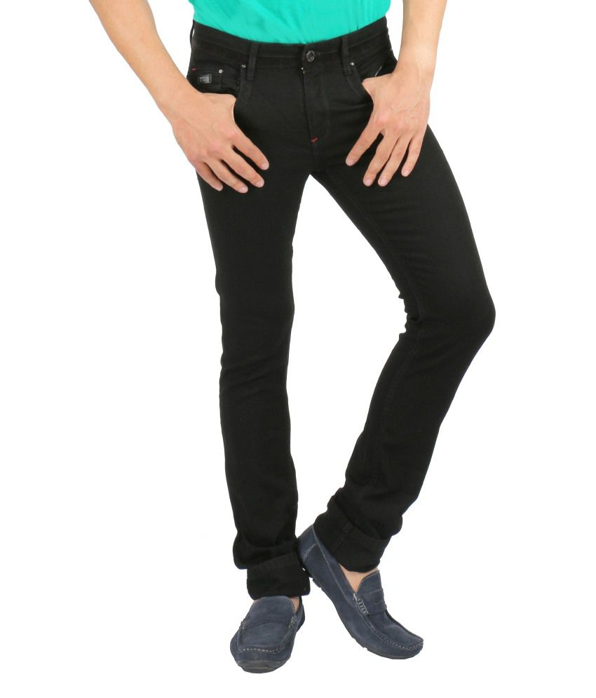 Streetguys Black Cotton Blend Basics Men's Jeans