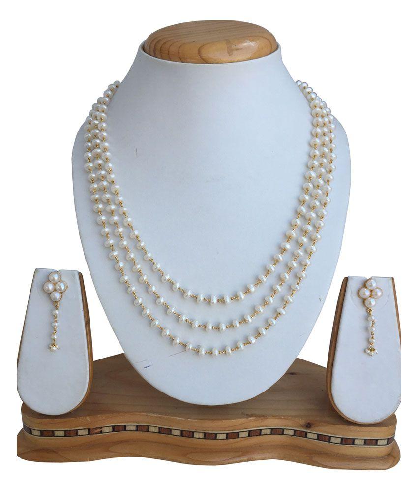 Narayan Jewellers 22kt Gold Multi Line Hallmarked Necklace Set