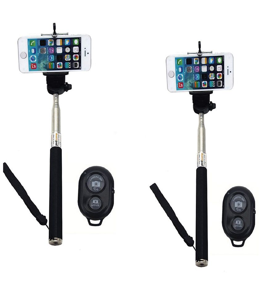 Generic Selfie Monopod Selfie Stick With BLUETOOTH Shutter and Mobile Clamp