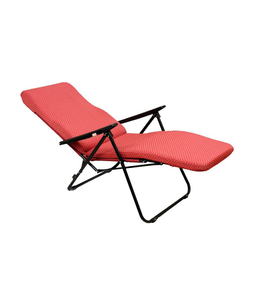 Tulip Recliners Maroon Portable Recliner Chair