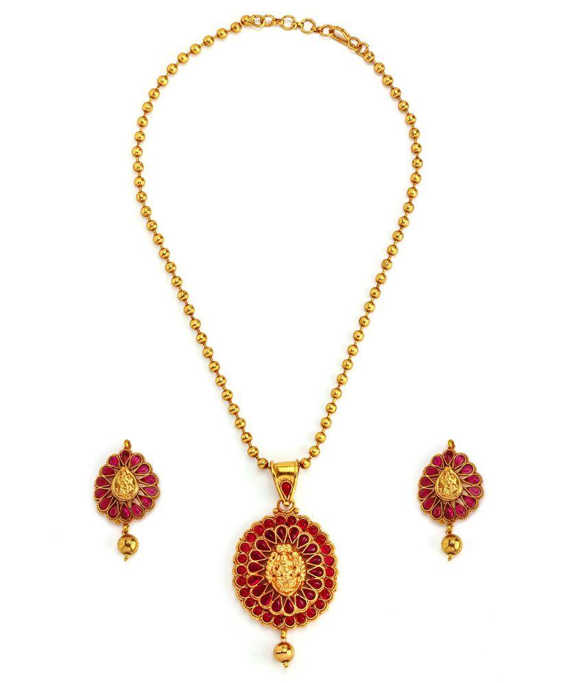 Alankruthi Gold Polki Traditional Necklace Set