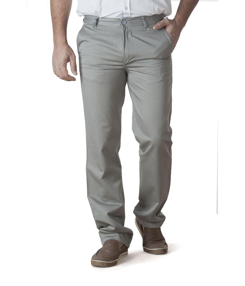 Zync9 Gray Cotton Trousers