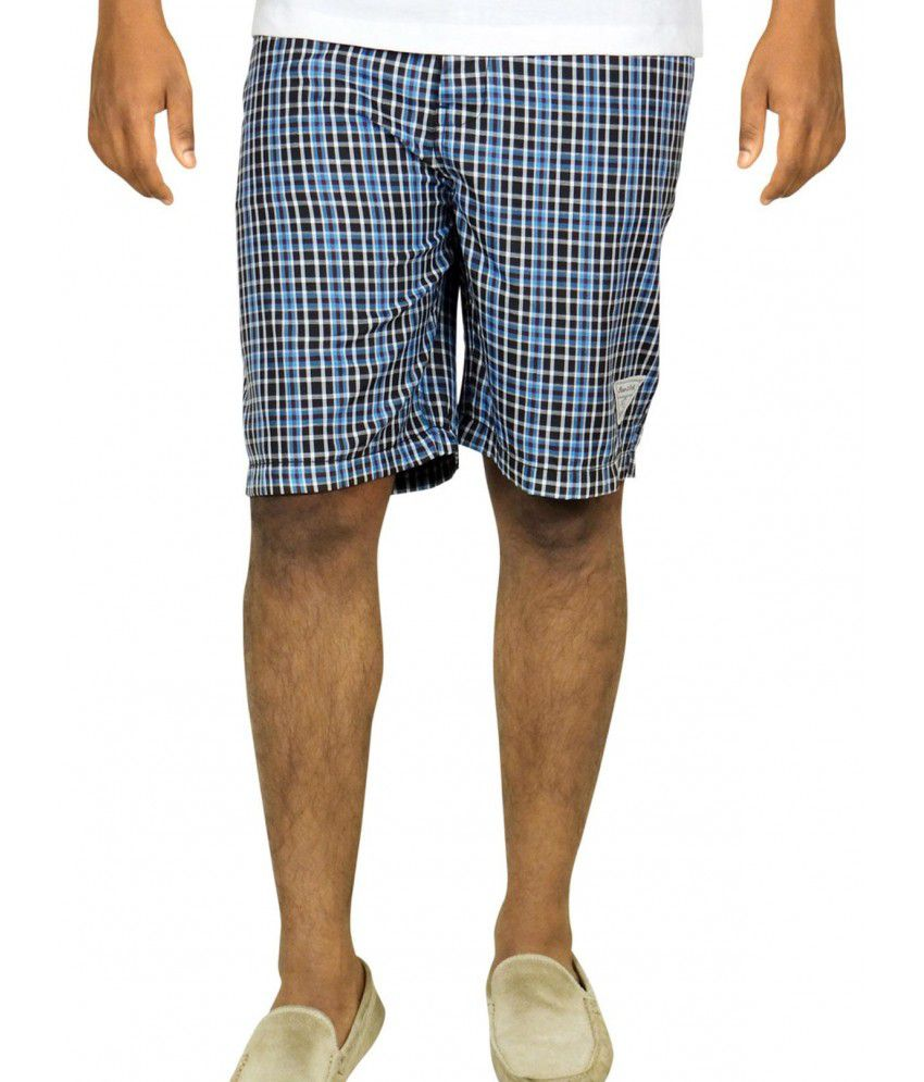 Boer And Fitch Blue Cotton Shorts