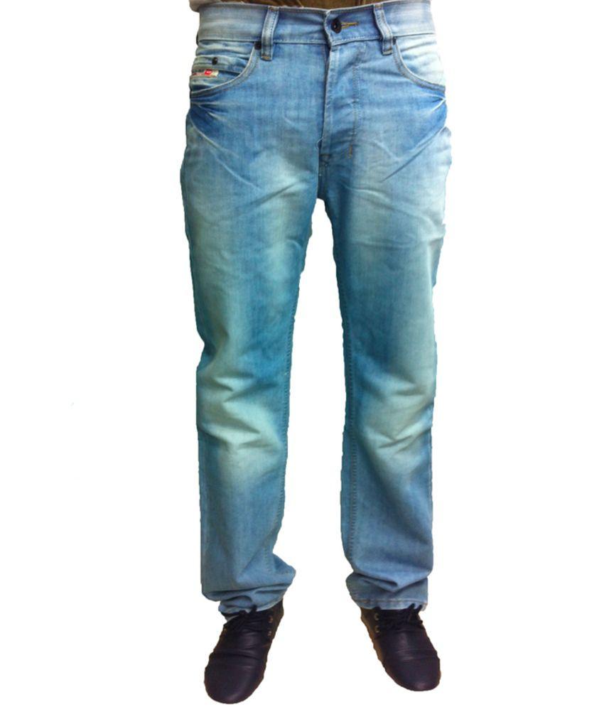 Diesel Blue Cotton Blend Men Jeans