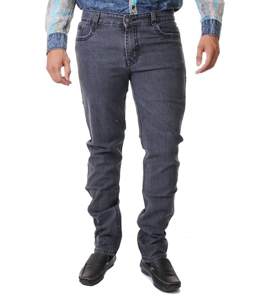 Hosten Grey Narrow Full Size Men's Jeans
