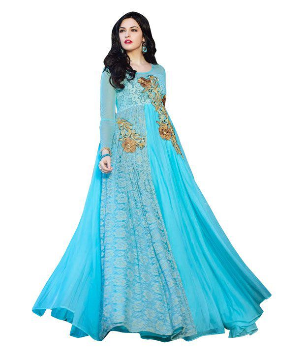 470885d05b Rsfgown Blue Net Gowns - Buy Rsfgown Blue Net Gowns Online at Best Prices  in India on Snapdeal