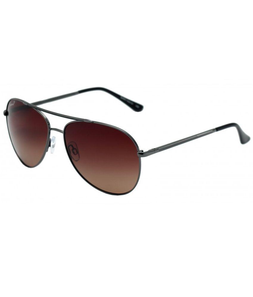 Sundrive Gunmetal Designer Aviator Shape Men's Sunglasses
