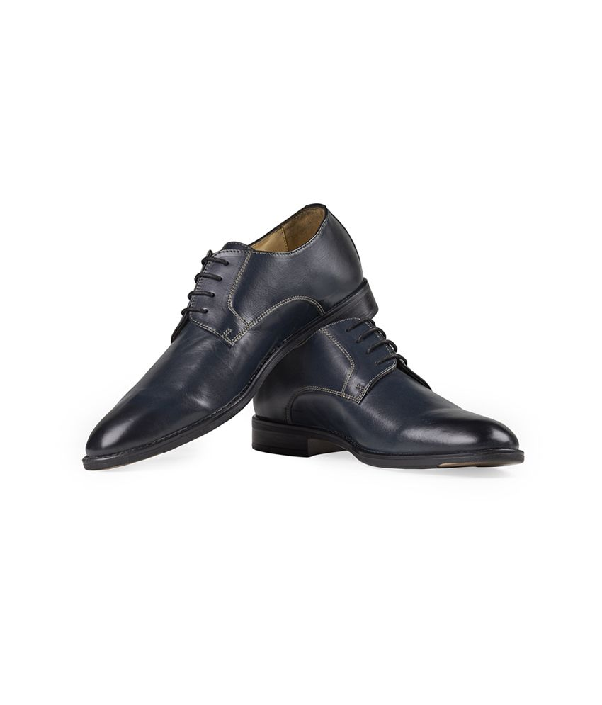 hide land navy leather formal shoes