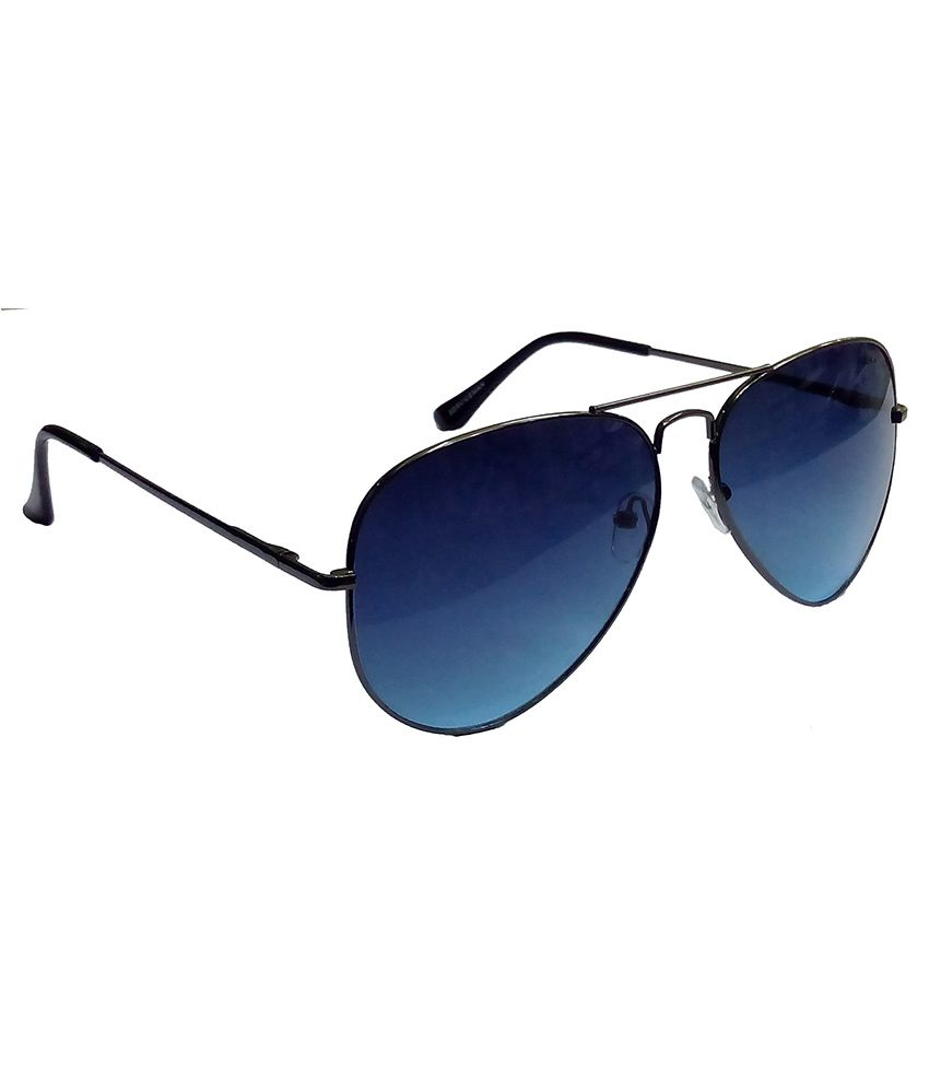 7aa91a299 ... Hrinkar Aviator Sunglasses Black Frame Dark Blue Lens with Aviator Gold  Frame Green Lens and 3D ...