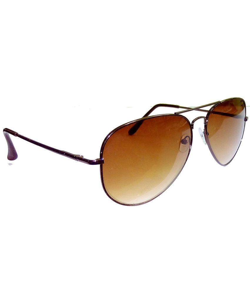 60f8e3341119 ... Hrinkar Aviator Sunglasses Brown Frame Brown Lens with Aviator Black  Frame Dark Blue Lens and 3D ...