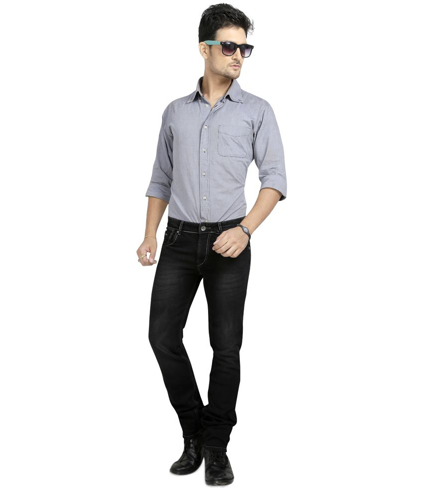 Wert Jeans Black Cotton Regular Jeans