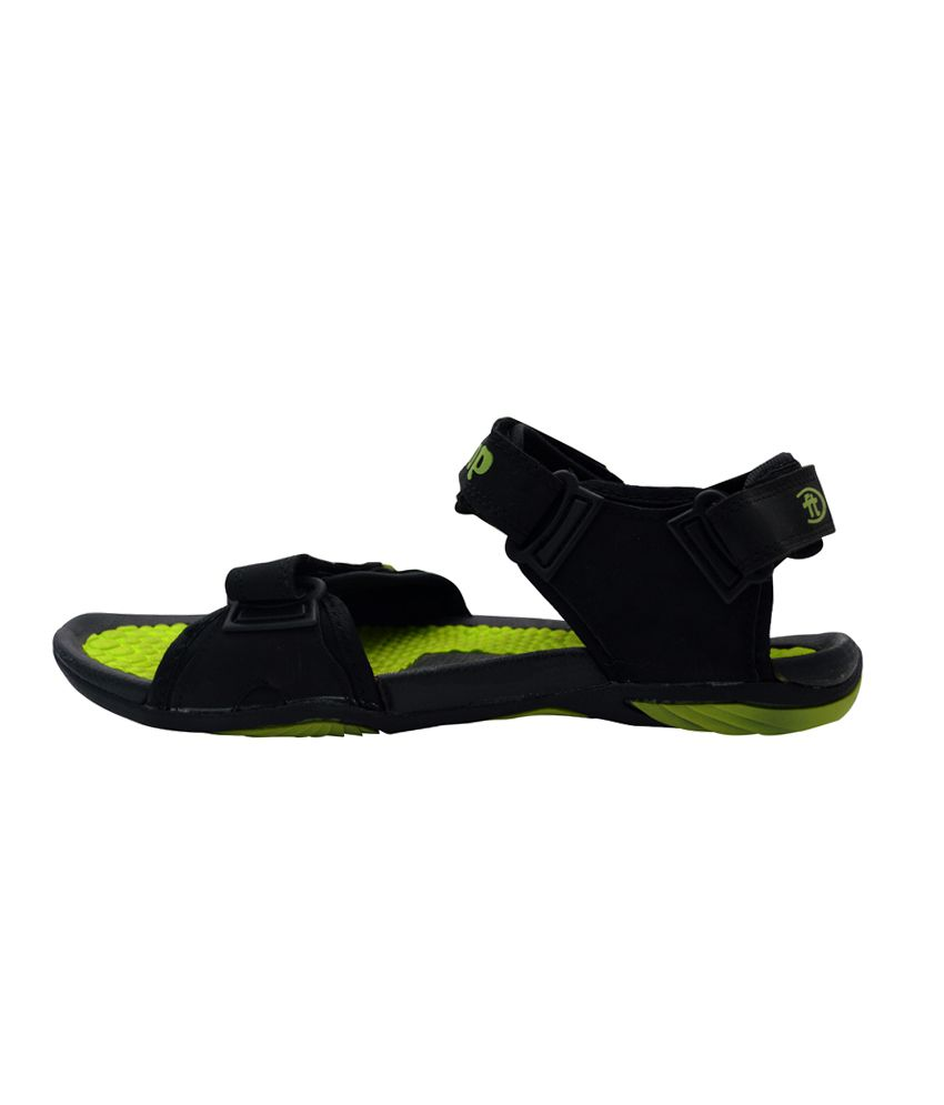 89440813fa6 Fliptop Green Faux Leather Daily wear Men Sandals Price in India ...
