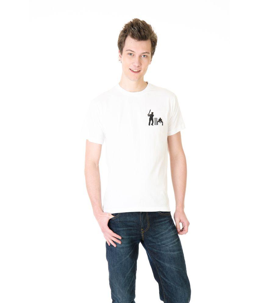 Posh 7 White Small Ckct Batsmen Cricket T Shirt