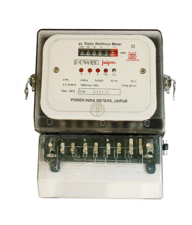 3 Phase Meter Utilyti : Buy power india meters three phase electronic meter