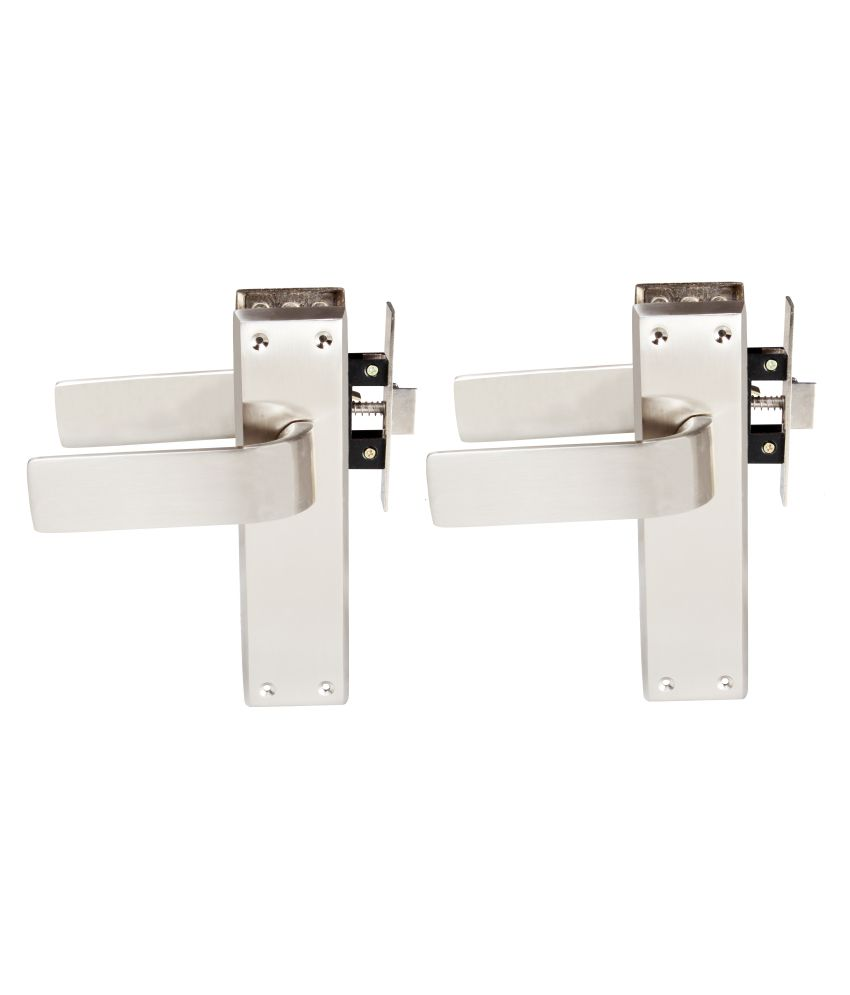 Sunrise JUMBO MORTICE PAIR FOR BATHROOM DOOR WITH MORTICE LATCH & screws COMPLETE SET(Pack of 2 pairs)