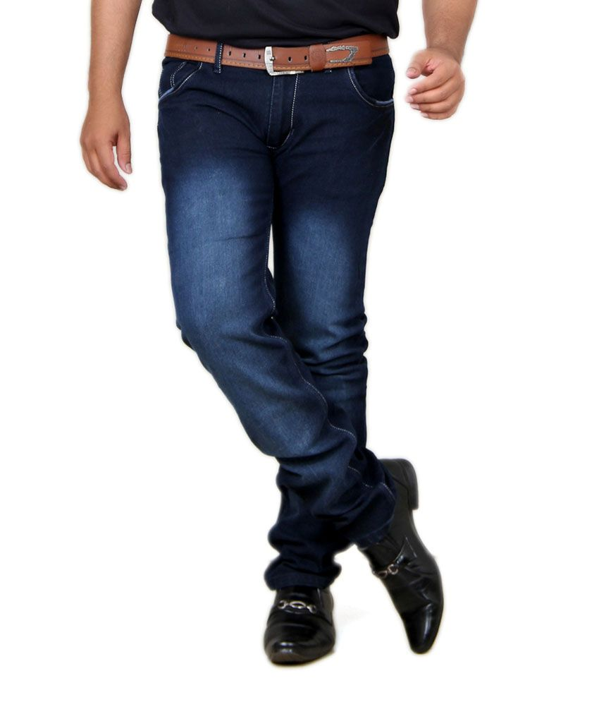Acro Black Cotton Trendy Stretch Men's Denim Jeans