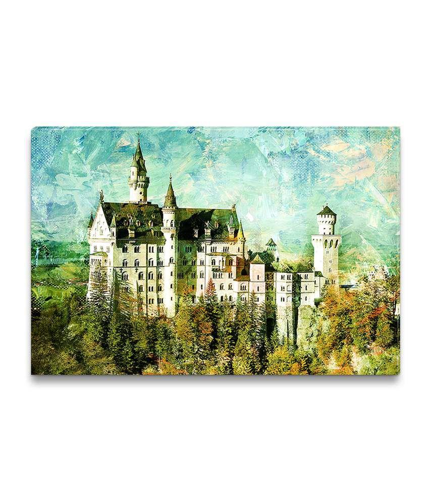 Ezyprnt Neuschwanstein Castle Painting Wall Hanging
