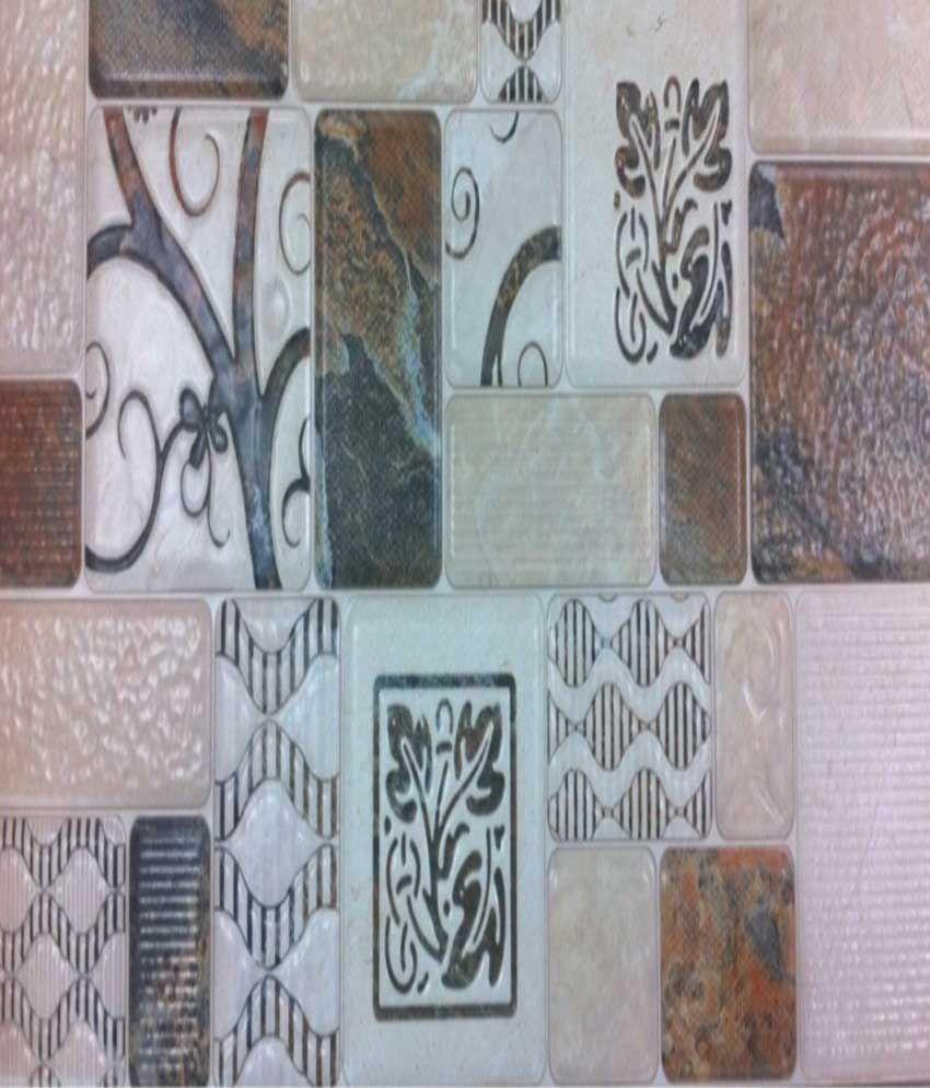 Buy City Gold Tile Palace Printed Beige Tiles - Set Of 8 Online at ...
