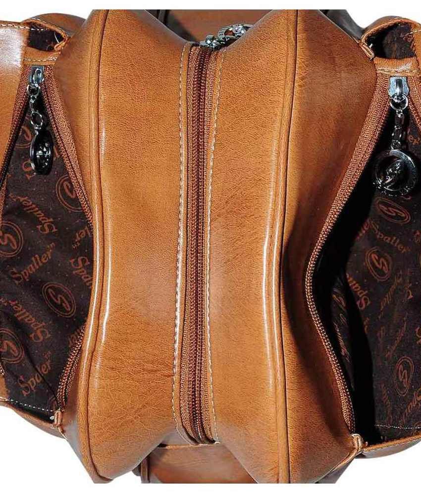 1d8b61cd89 TLH Spaller Stylish Brown Satchel Handbag - Buy TLH Spaller Stylish ...