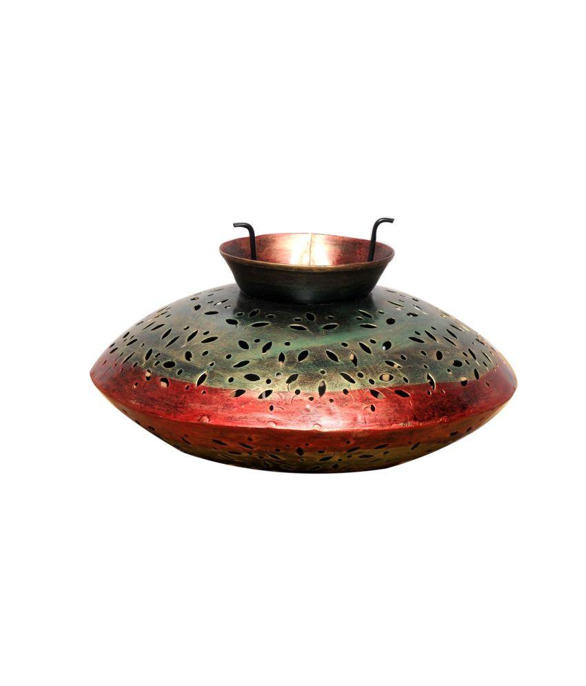 Indian Handicrafts Company Big Iron Candle Light Degchi Buy Indian