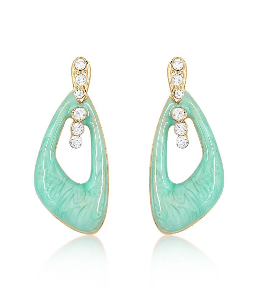 Big Tree Green Chic Drop Earrings For Women