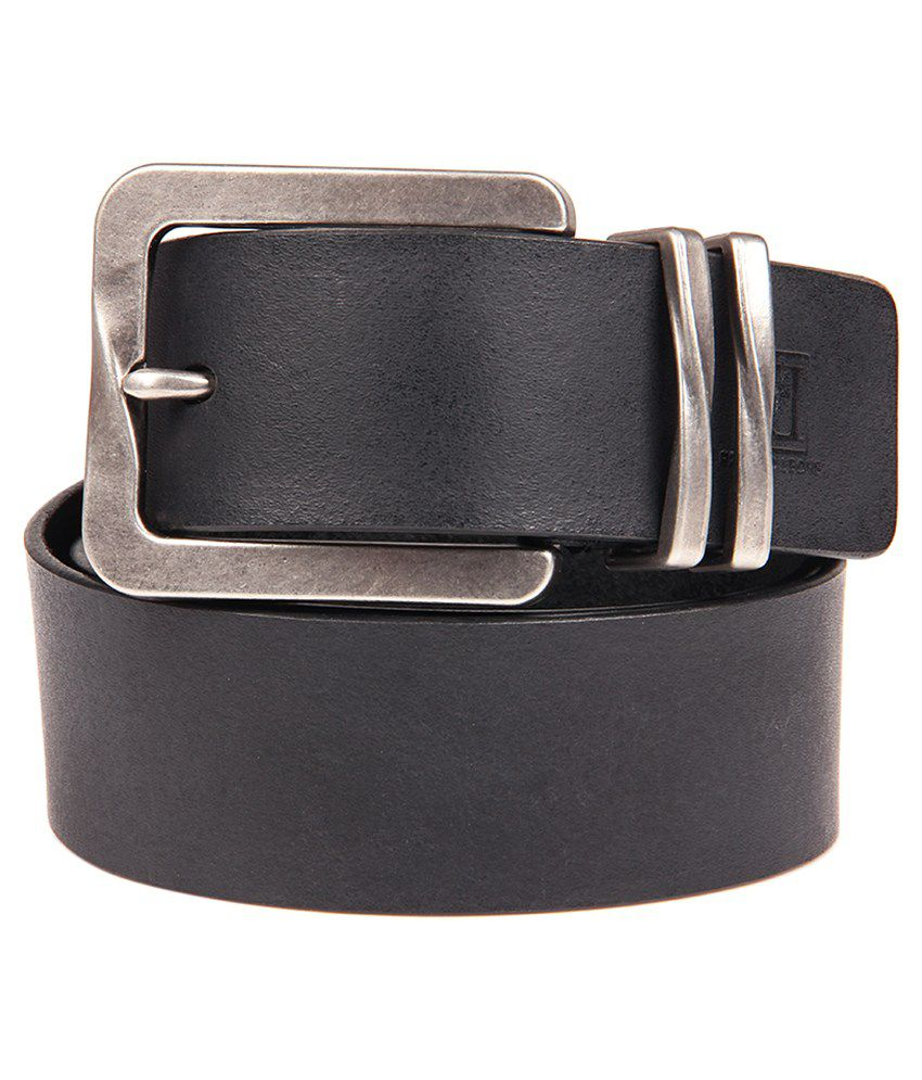 Franco Leone Black Casual Belt