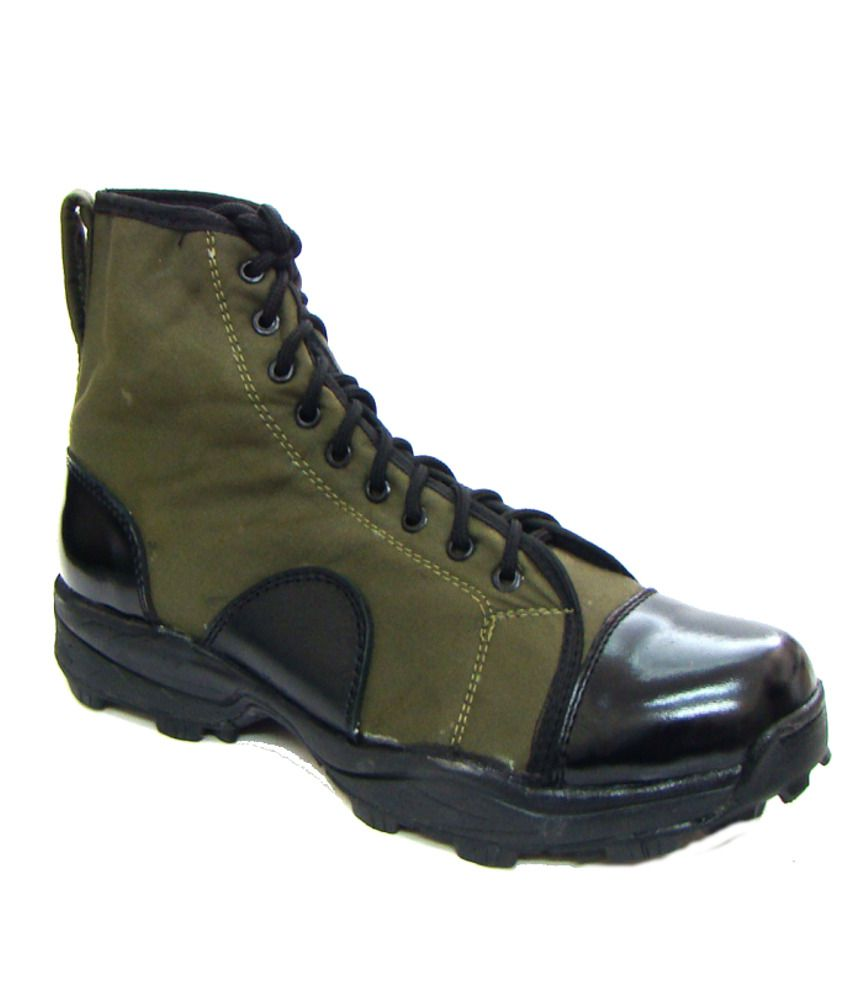 ASM Pure Leather & Breathable Fabric Jungle Boots