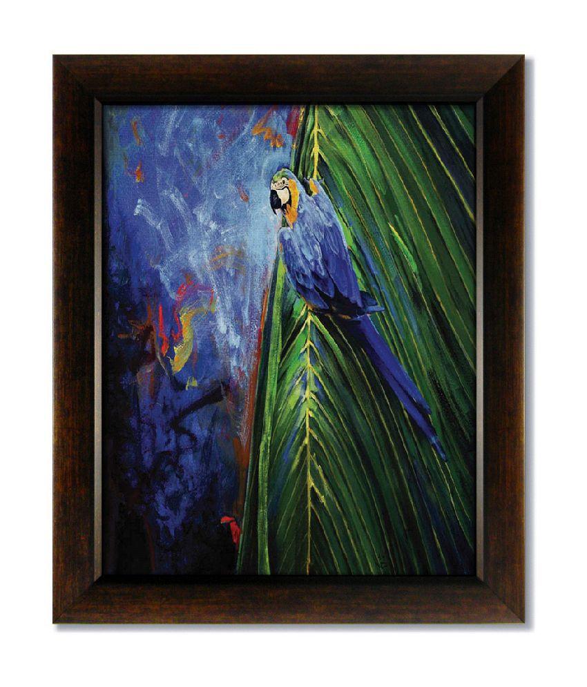 Stybuzz Bird Frameless Canvas Painting